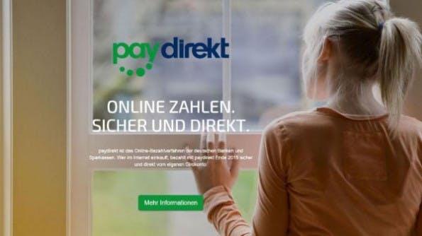 Paydirekt wirbt um Vertrauen. (Screenshot: Paydirekt)