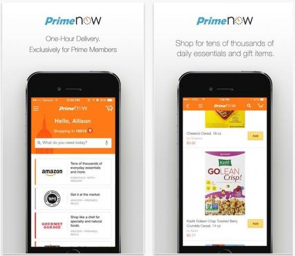 Prime Now: Bestellen und binnen Stunden nach Hause geliefert bekommen. (Screenshot: App Store/t3n)