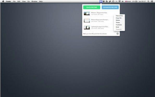 Mit QuickCast nehmt ihr den Inhalt eures Screens auf. (Grafik: App-Store)