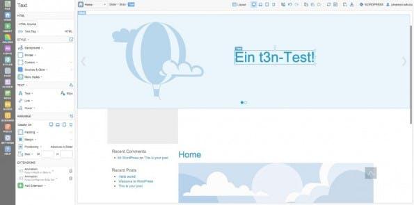 Elemente können mit verschiedenen Optionen angepasst oder einfach verschoben werden. (Screenshot: Themler)
