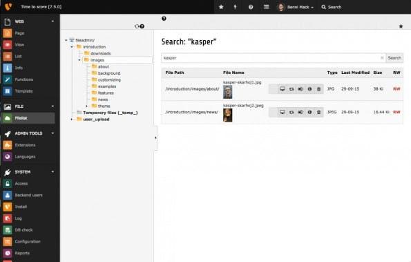 Die neue Suchfunktion für Dateien. (Screenshot: TYPO3.org)