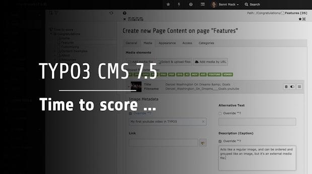 TYPO3 CMS 7.5: Das ist neu