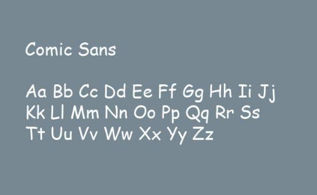 Die unbeliebtesten Schriftarten der Welt: Comic Sans. (Grafik: t3n.de)