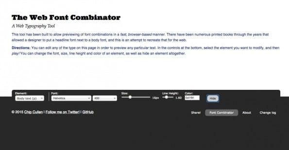 web font combinator