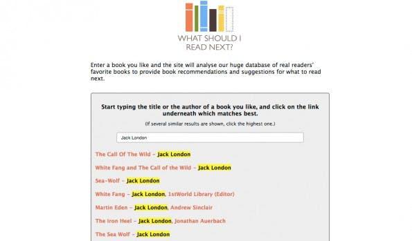 """""""What Should I Read Next"""" gibt euch von der Crowd bereitgestellte Buch-Empfehlungen. (Screenshot: whatshouldireadnext.com)"""