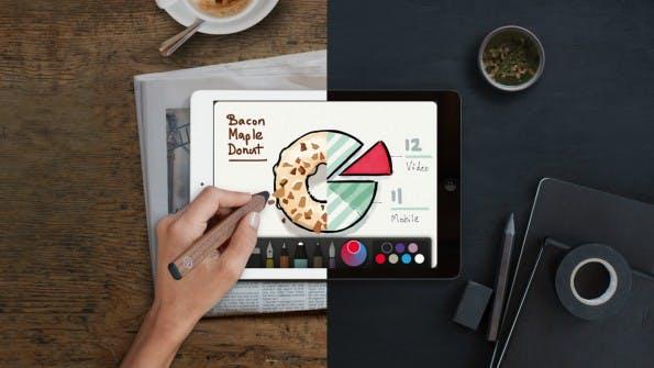 Paper von FiftyThree ist das Urgestein unter den Zeichen-Apps fürs iPad. (Bild: FiftyThree)