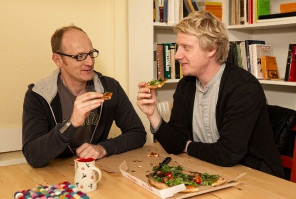 PIzza und Bier: Für eine richtige WG, die das House of Startups auch sein will, unverzichtbar. (Foto: Börsenverein / Tom Kauth)