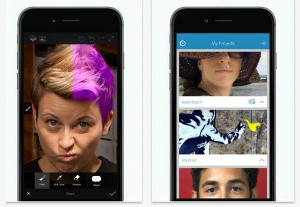 Mit der Gratis-App Photoshop Fix lassen sich Fotos schnell bearbeiten. (Screenshot: Adobe/t3n)