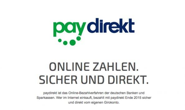 Screenshot: Paydirekt