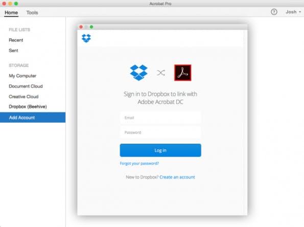Dropbox Adobe PDF