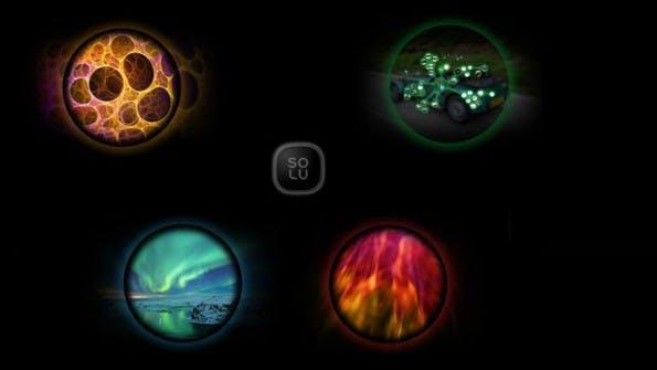 Beim Betriebssystem setzt Solu auf Blasen. (Bild: Kickstarter/Solu)