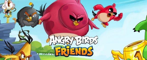 Chromecast-Game: Angry Birds Friends könnt ihr auf dem Fernseher spielen. (Grafik: Rovio)