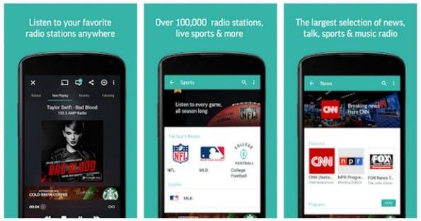 Chromecast Audio: TuneIn Radio verwandelt eure Anlage in ein Internet-Radio. (Screenshot: Play-Store)