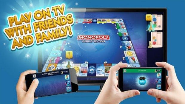 Monopoly: Vom Brettspiel zum Chromecast-Game. (Grafik: Hasbro)