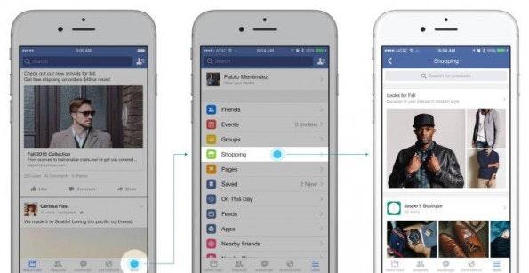 Facebook testet Shopping-Feed und will Angebote sichtbar machen. (Screenshot: Facebook)