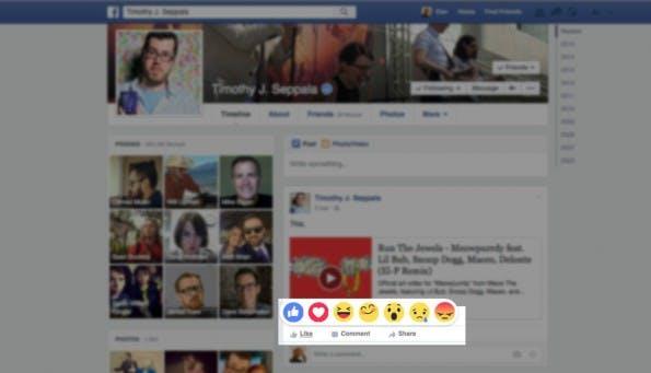 So sieht der erweiterte Like-Button von Facebook aus. (Screenshot: Engadget.com)