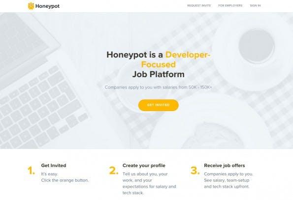 Auf Honeypot bewerben sich Unternehmen bei potenziellen Mitarbeitern. (Screenshot: honeypot.io)