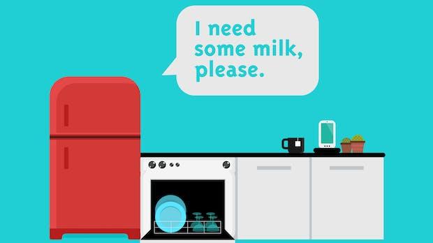 Jetzt kommt er endlich, der selbstauffüllende Kühlschrank: Amazon startet Dash-Service