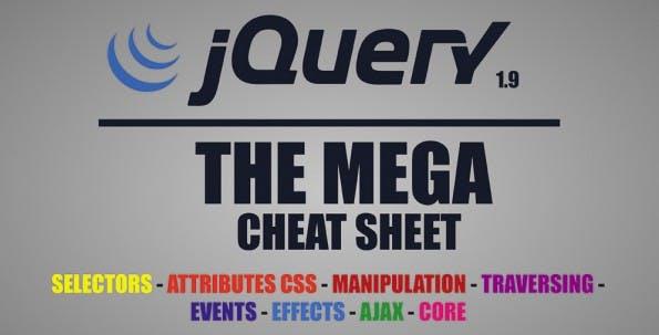 jQuery-Cheat-Sheet. (Grafik: MakeAWebsiteHub.com)