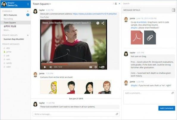 Mattermost ist eine quelloffene Slack-Alternative zum Selbtshosten. (Screenshot: mattermost.org)