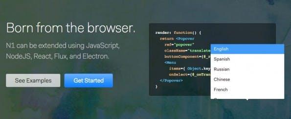 Entwickler können Nylas N1 mit JavaScript-Plugins erweitern. (Screenshot: Nylas)