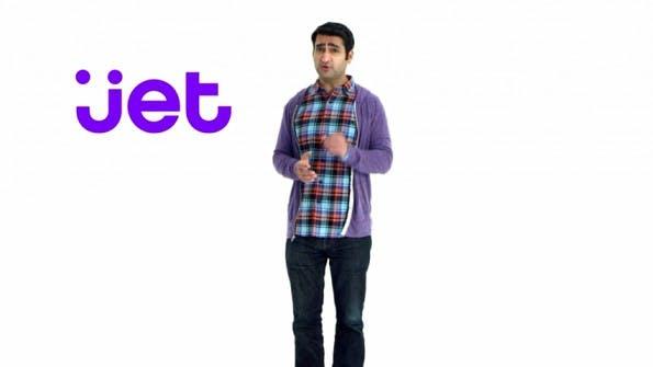 Comedian Kumail Nanjiani machte zum Start Werbung für Jet.com.  (Screenshot: YouTube)