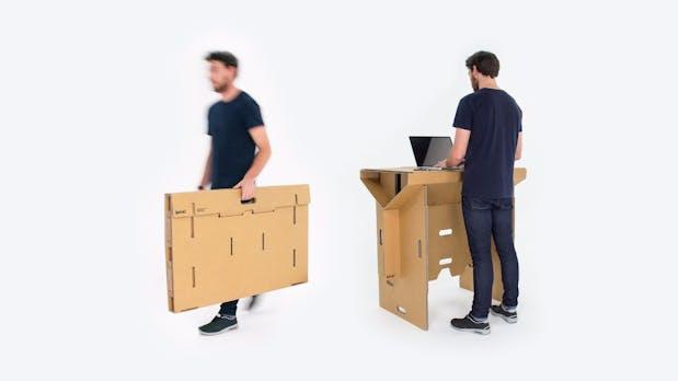 Designer-Stehtisch aus Pappe: Refold ist gut für euren Rücken