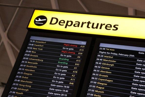 Vergisst man schnell: Gate-Nummern am Flughafen. (Foto: Shutterstock)