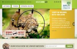 Die Gewinner-Website bei den TYPO3-Awards des BUND. (Screenshot: BUND)