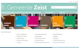 Die Gewinner-Website bei den TYPO3-Awards der Gemende Zeist. (Screenshot: Gemende Zeist)