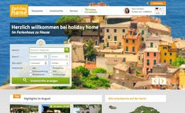 Die Gewinner-Website bei den TYPO3-Awards von Holiday Home. (Screenshot: Holiday Home)