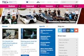 Die Gewinner-Website bei den TYPO3-Awards von der Universität Eindhoven. (Screenshot: Universität Eindhoven)