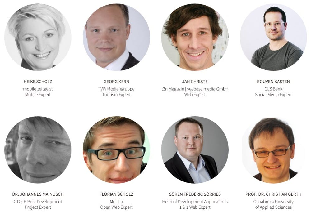 Die Jury der TYPO3-Awards 2015. (Screenshot: TYPO3-Awards)