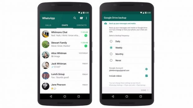 Die neue WhatsApp-Backup-Funktion war längst überfällig. (Bild: Google)