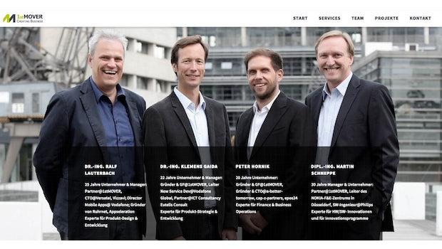 """In Düsseldorf greift der Inkubator <a href=""""http://www.1stmover.org/"""">1st Mover</a>Gründerteams aus den SegmentenPublishing, Marketing und Produktivität unter die Arme. Bis zu 100.000 Euro Anschubfinanzierung erhalten die Pre-Seed- und Seed-Startups, dazu Beratung, operative Unterstützung und eine vergünstigte Infrastruktur. (Screenshot: 1st Mover)"""