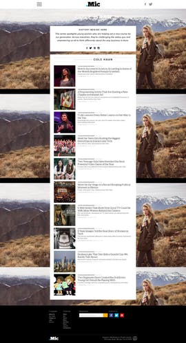 Native Ad vom Klamotten-Label Cole Haan auf Mic.com (Screenshot: mic.com)