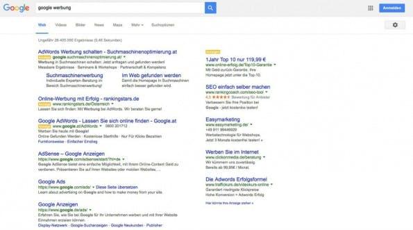 Werbung in der Google-Suche. (Screenshot: Google/t3n.de)
