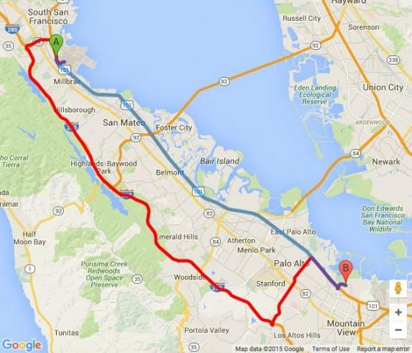 Google Maps: Entwickler erhalten Zugriff auf Predictive-Travel-Tool. (Screenshot: Google)