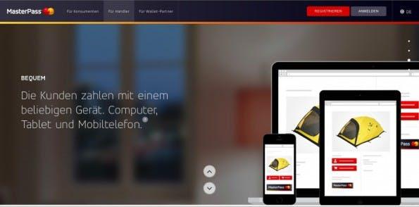 Mit MasterPass bietet auch MasterCard seit kurzem eine Alternative zu PayPal an. (Screenshot: Mastercard)