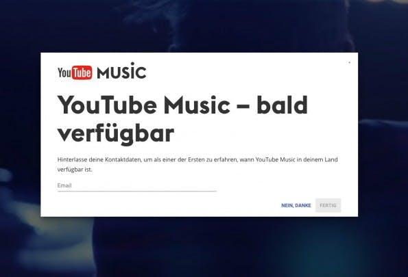 YouTube Music: Bald auch in Deutschland verfügbar? (Screenshot: YouTube/t3n)