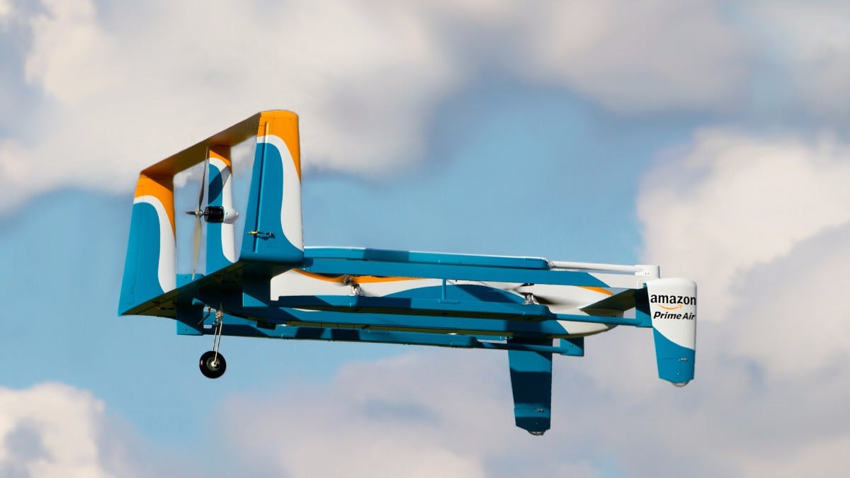 Prime Air: Amazon patentiert selbstzerstörende Drohne