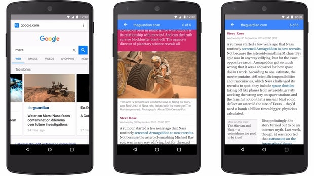 Vor dem Launch von Instant Articles: Google startet seine Accelerated Mobile Pages am 24. Februar