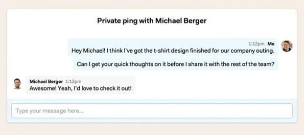 Der Instant Messager von Basecamp: Ping (Screenshot: Basecamp)