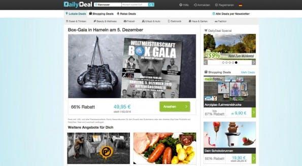 DailyDeal gehört jetzt zur selben Familie wie GutscheinPony.de. (Screenshot: DailyDeal)