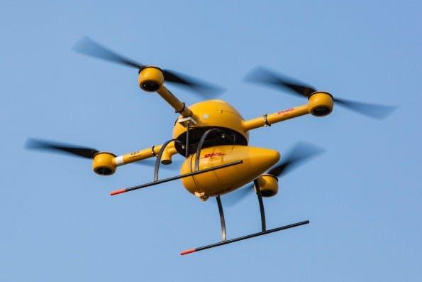 DHL testet Paketkopter für die Belieferung von Nordseeinseln. (Foto: DHL)