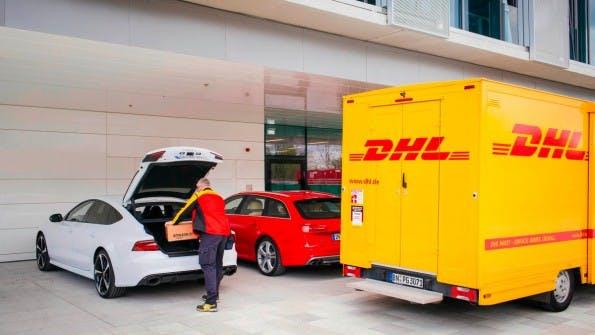 Amazon, Audi und DHL testen gerade die Kofferraumlieferung. (Foto: DHL)