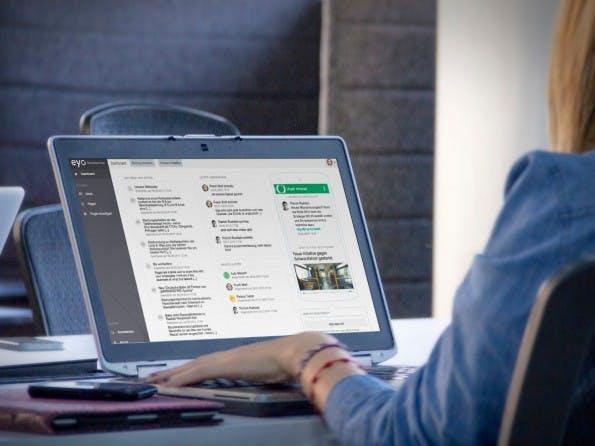 Viele Intranets lassen sich nur oder zumindest am besten via Desktop-PC nutzen. Bei Eyo ist das nur eine von mehreren Varianten. (Foto: Eyo)