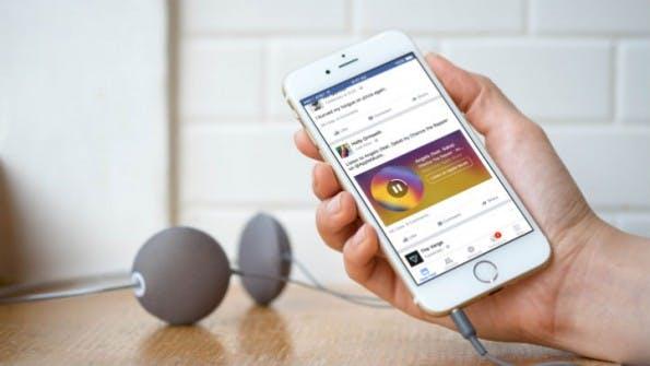 """Facebook will mit """"Music Stories""""  Nutzern helfen, neue Musik zu endecken, ohne die App zu verlassen. (Bild: Facebook)"""