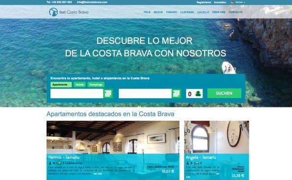 Feel Costa Brava setzt auf NEOS CMS. (Screenshot: t3n)