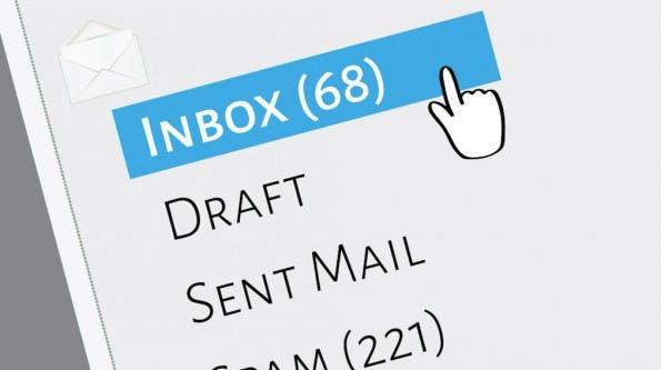 Das sind die gröbsten Fehler im Umgang mit E-Mails! (Grafik: Shutterstock-muuraa)